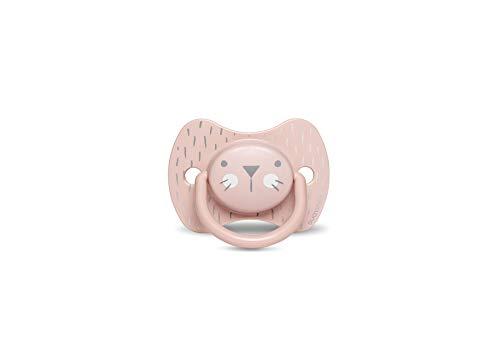 Suavinex Succhietto con 306621 Tettina Simmetrica in Silicone, da 18 Mesi, Hygge Colore Rosa - 30 G