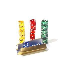 Dice Stacking 5 Casino Würfel,Farblich sortiert