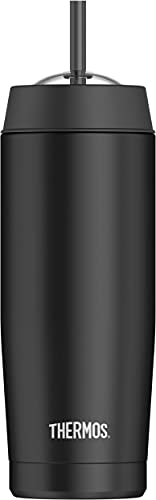 Thermos 16 Ounce Cold Cup with Straw ( Vacuum Insulated)