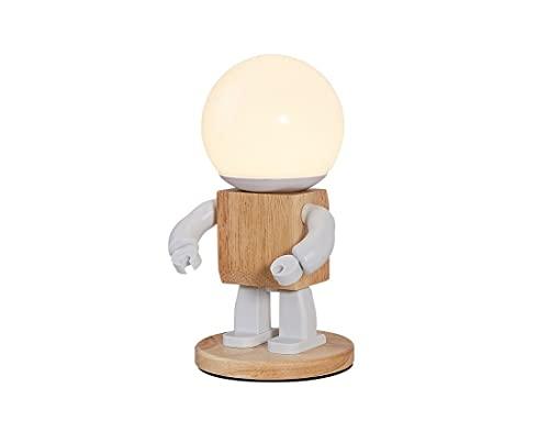 JZRHMJHW Luz Nocturna de LED, Toque atenuación Robot luz de Noche Carga Creativa lámpara de Mesa Dormitorio Personalidad decoración Simple lámpara de Noche