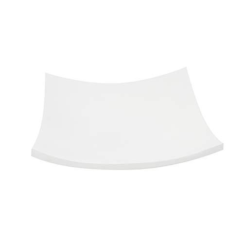 Trendy Wood & Light Quadrat weiß Holzschale Dekoschale Holz Schale Deko Geschenk (weiß)