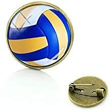Best Deals Ever Beach Volleyball Bild Badge Pin Exquisite Frauen Herren Sport Volleyball Kunst Broschen Pins Schmuck