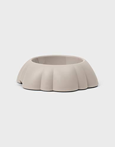 United Pets Daisy Ciotola per Cani, di Design, Made in Italy, Grigio Tortora, M