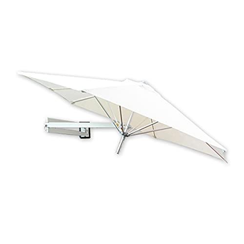 SuoANI Sombrilla para Patio De Montaje En Pared, Sombrillas para Exteriores Sombrillas De Aluminio para Patio Trasero Parasol De 7 Pies / 8.2 Pies Redondo para Mercado Patio Trasero Piscina Jardín