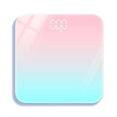 Báscula Digital baño Inteligente Grasa Corporal Básculas Digitales de precisión Scales Carga USB de 180 kg para Adultos en casa pequeña,A,batterys