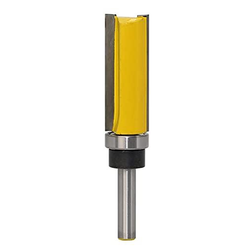 SHAXX MI-BO 6mm / 6.35mm / 8mm enrutador de vástago bit de Molino de Extremo Recto enrutador de Madera de Madera BO-MI (Cutting Edge Length : 6.35mm NO4)