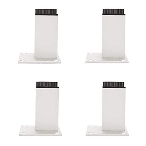 YWTT Patas para Muebles, pies Cuadrados Ajustables para Muebles, Patas para Muebles de Aluminio, Patas para Muebles de baño, Soporte de Mesa, estribos, x4