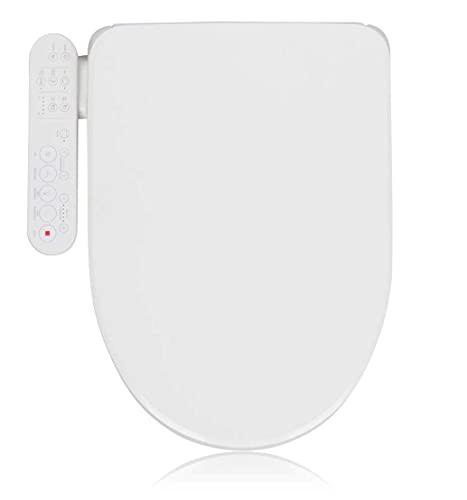 Alpha Bidet GX Wave Bidet Toilet Seat in Round White | Strong Spray | Stainless Steel Nozzle | 3...