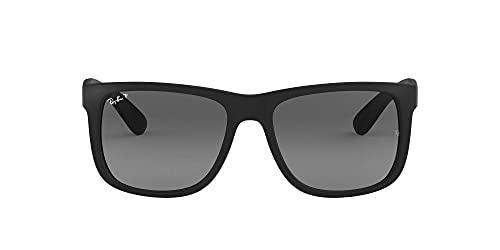 Ray-Ban Justin RB4165 - Gafas de sol Unisex, Negro (Black Rubber), 55 mm