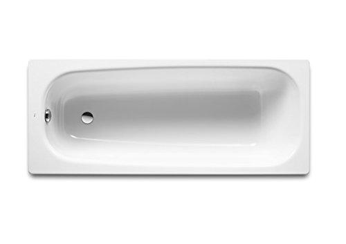 Roca - Bañera de fundición rectangular - Serie Continental, Color Blanco