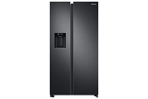 Samsung RS68A8830B1/EU Side by Side American Fridge Freezer with SpaceMax Technology 634 litre, Black Stainless