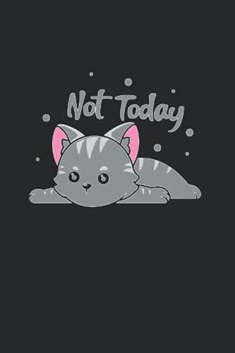 Non Oggi -Tired Cat: DIN A5 Stanco Cat Notebook Gatto di sonno del regalo con 120 pagine
