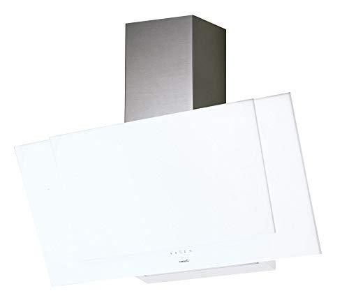 Cata | Dunstabzugshaube | Model Valto 600 XGWH | Dekorative Wandhaube | 6 Absaugstufen, 5 + 1 TURBO | 60 cm Breite | Weißes Glas | Energieeffizienzklasse A+