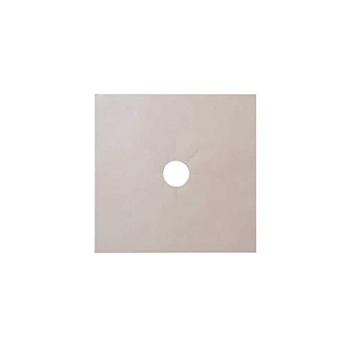 1/2/4PC Aluminum Foil Square Gas Stove Burner Covers –Kitchen Gas Range Top Brown - Keep Your Gas Range Clean with DCS Deals Drip Pans, 0.12MM