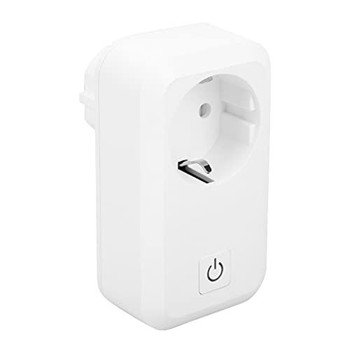 Enchufe inteligente, 16A WiFi Socket Aplicación de teléfono móvil Control de voz remoto Funciona con Alexa Echo, Google Home, No se requiere concentrador(EU)
