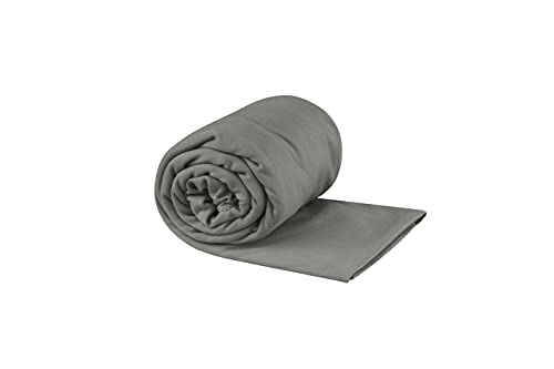 Sea to Summit Portable Pocket Towel for Camping, Gym, and Travel, X-Large / Beach Towel, Grey