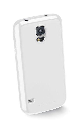 Cellular Line SHCKGALS5W TPU Backcover inkl. Displayschutzfolie für Samsung Galaxy S5 weiß