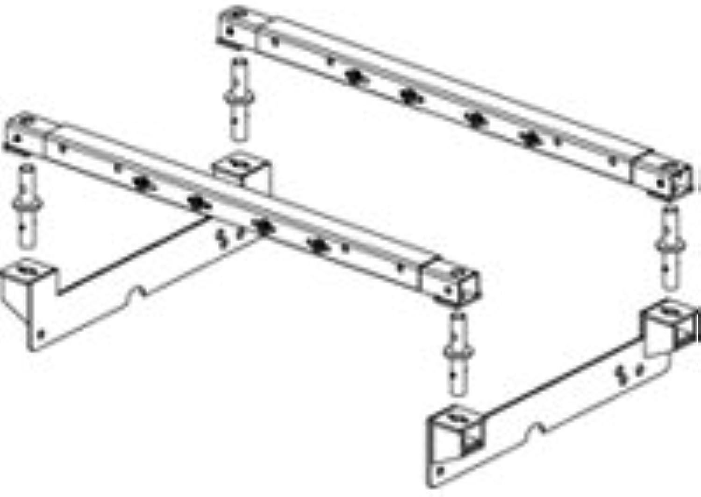 PullRite 0843 Super 5th SuperRail Mounting Kit  16K 20K Load Capacity