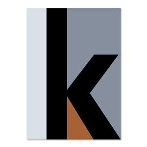 PLTY - Poster - K OK - 50x70 cm