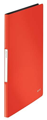Leitz 45641020 Solid Sichtbuch PP A4, 20 Hüllen, hellrot