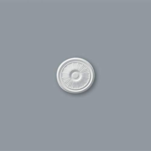 Decoflair EPS-Rosette B15 Wand Stück Deckenrosette Ø 255 mm Deckendekoration Dekorrosette weiss