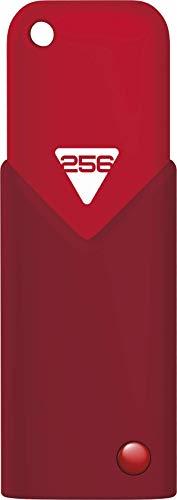 Emtec Click Fast USB-Stick 256 GB USB Typ-A 3.0 (3.1 Gen 1) Rot - USB-Sticks (256 GB, USB Typ-A, 3.0 (3.1 Gen 1), Dia, Passwortschutz, Rot)