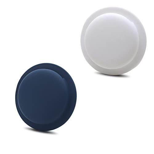Adecuado para funda de silicona Apple AirTags, funda protectora redonda para rastreador AirTags, se puede pegar en el teléfono móvil, control remoto (adecuado para paquete de 2 estuches airtags)