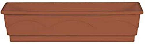Emsa 501838 Lago aqua comfort - Jardinera (75 cm), color terracota