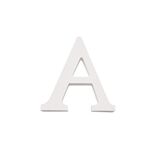 Arte infinita - Letras y números de madera alfabeto para decoración 15 cm (A)
