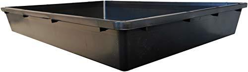 W16 Universal Auffangwanne rechteckig | Ölauffangwanne | Kotwanne | Katzenklo | Gewächshauswanne | 16L Vollumen | PP Kunststoff
