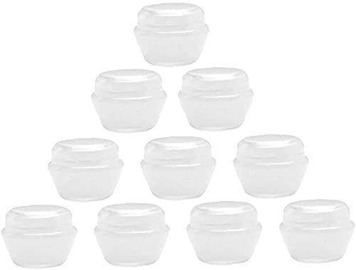 Nice Design Lot de 10 pots à échantillons rechargeables en plastique vides pour lotions de maquillage, lotions de beauté 3 ml