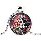 Collier avec pendentif gothique pour filles Harley Quinn Poison Ivy Cat Femme Cosplay Fangirl Fanboy