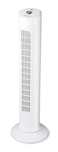 Duracraft DO1100E Ventilatore a Torre, Oscillante, Bianco