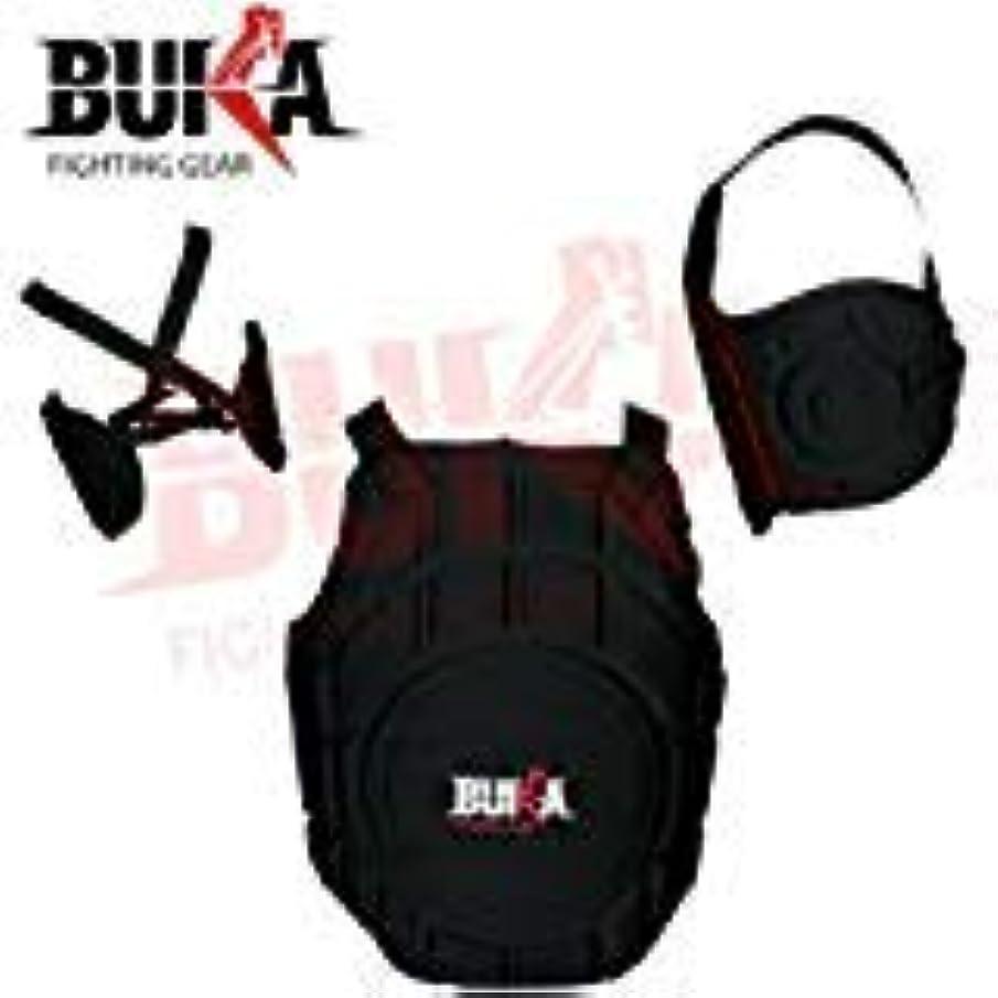マーク正午先生Buka Fighting歯車buka胸ガードボディプロテクターボクシングMMA Heavy HitterリブShield Armour MMAムエタイトレーニング