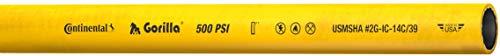 Goodyear EP Gorilla Nitrile Rubber Hose, Yellow, 500 PSI Maximum Working Pressure, 1/4