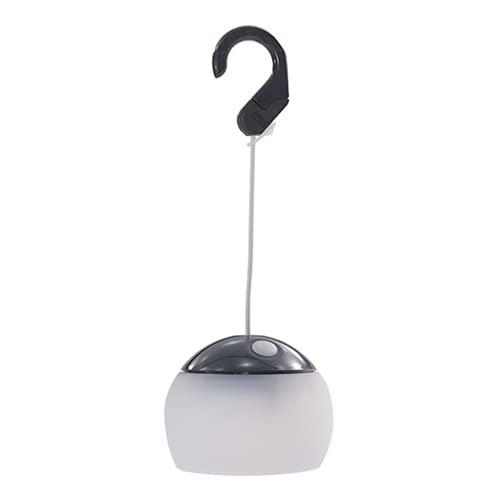 Lámpara LED para tienda de campaña, portátil, para colgar al aire libre, para viajes, pesca, senderismo, fiesta (gris)