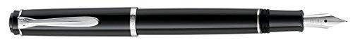 Pelikan 930750 Patronenfüllhalter P205, Feder M, polierte Edelstahlfeder, schwarz