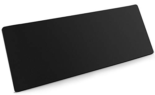 Extended Gaming Mouse Pad, Large Mousepad with Premium-Textured Cloth, Non-Slip Rubber Base, Waterproof Keyboard Pad, Desk Mat for Gamer, Desk Pad Keyboard Mat, Office & Home (31.5''x15.7'', Black)