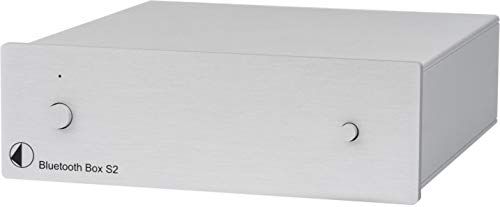 Pro-Ject Bluetooth Box S2, Audiophiler Bluetooth Audioempfänger mit aptX (Silber)