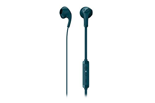 Fresh 'n Rebel Flow In-ear Headphones | Wired Earphones with integrated remote and microphone – Petrol Blue