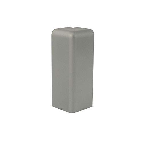 Trevendo® Außenecke silber für Sockelleiste weiß 58mm TOP MDF Fußleisten für Vinyl Laminat Parkett