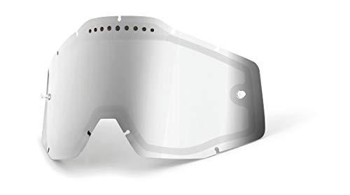 100% Racecraft/Accuri/Strata Vented Dual Pane Lentille anti-brouillard Argent Taille unique