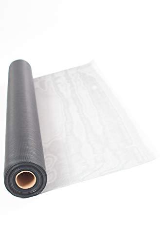 TESO Insektenschutz Gaze - Fliegengitter - Schutz gegen Mücken - Durchsichtiges Fiberglasgewebe, UV-beständig, 120 x 250 cm, grau