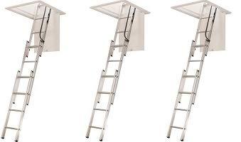 WERNER LADDER AA1510 AA1510B Ladder Aluminum Attic, 250 lb (3-(Pack))