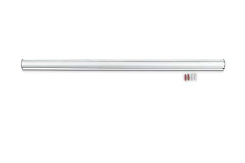 Maul Bonschiene LxB 100 cm x 50cm, Wandklemmleiste Aluminium, Ballfix-System, Silber, 1 Stück