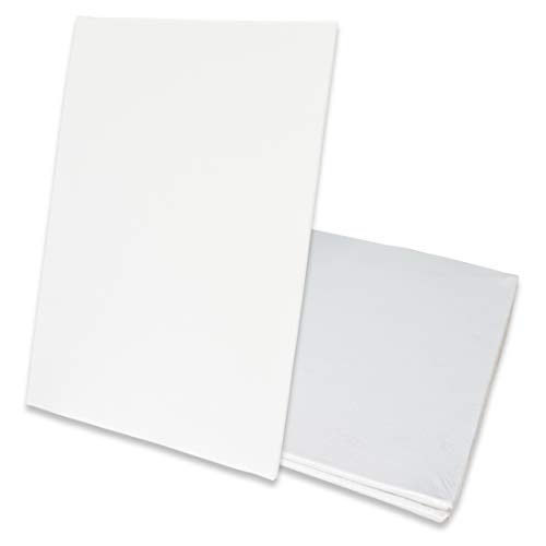 Eono Amazon Brand Canvas Panels 60cm x 40cm Set of 3 Blank 100% Cotton