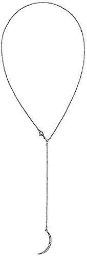 Yiffshunl Collar Mujer Collar Cristal Luna Colgante Collar para Mujer Estilo Simple