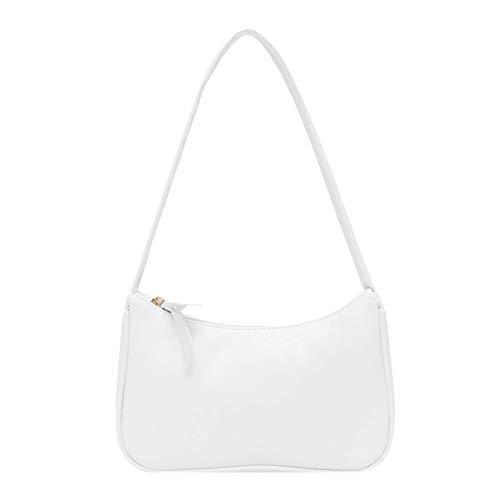 liuwei Bolso de las axilas de las mujeres simple elegante pequeño bolso de hombro de cuero de la PU Crossbody bolso de color puro casual Sling bolsos