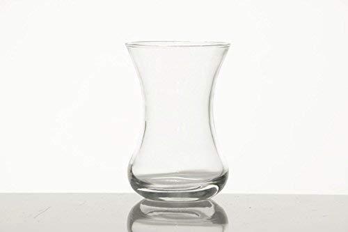 Pasabahce 1077813 theeglas set 6-delig glas voor 6 personen vaatwasmachinebestendig theeglazen service warme drank Turkse thee voor genot en ontspanning 108 ml
