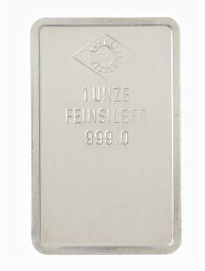 Silberbarren 1 Unze, Feinsilber, Neu